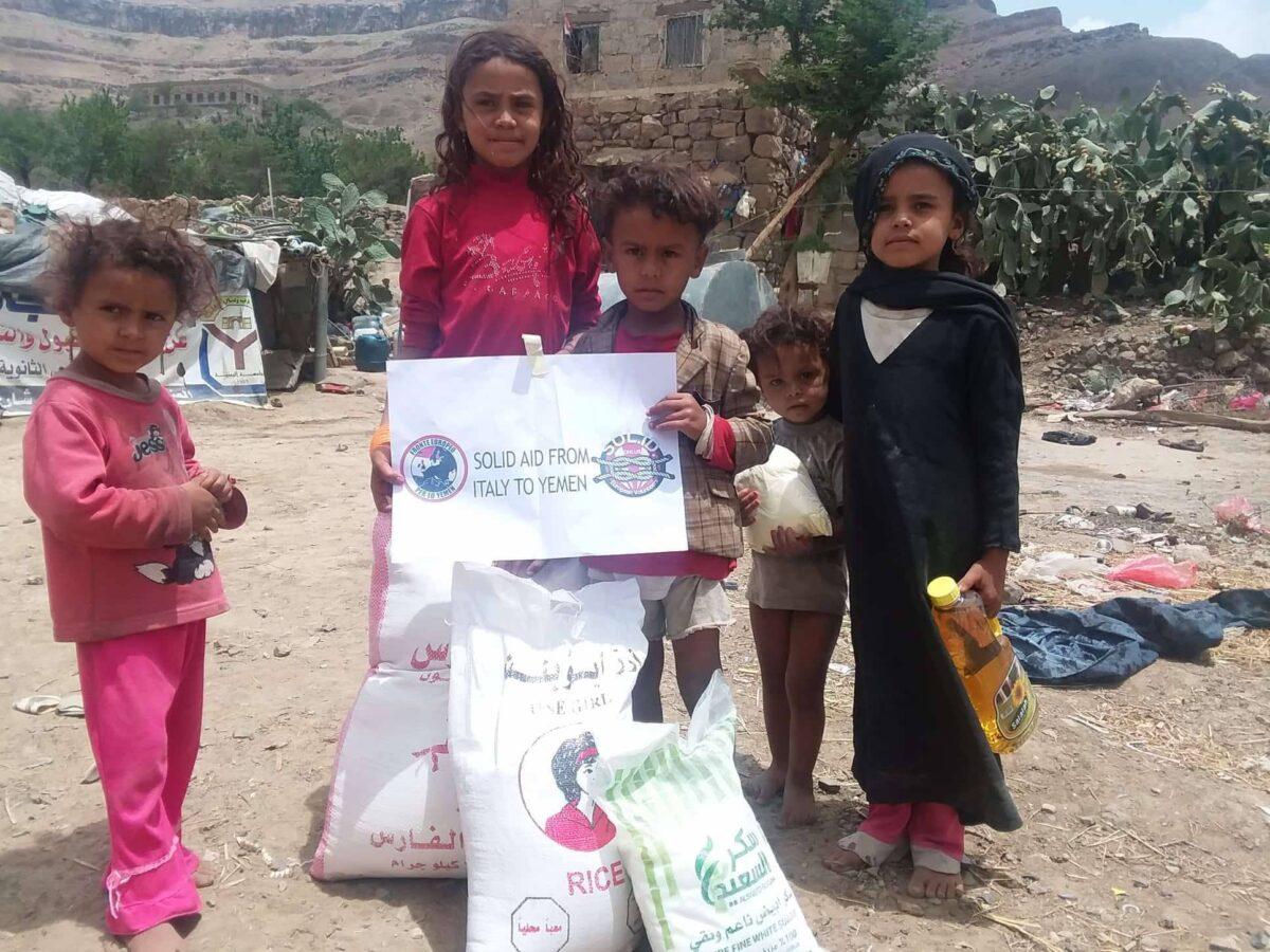 aiuti alimentari di Sol.Id. Onlus in Yemen