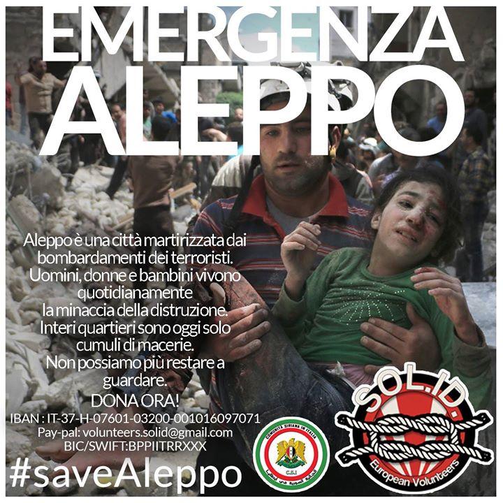 #saveAleppo, non rimanere a guardare