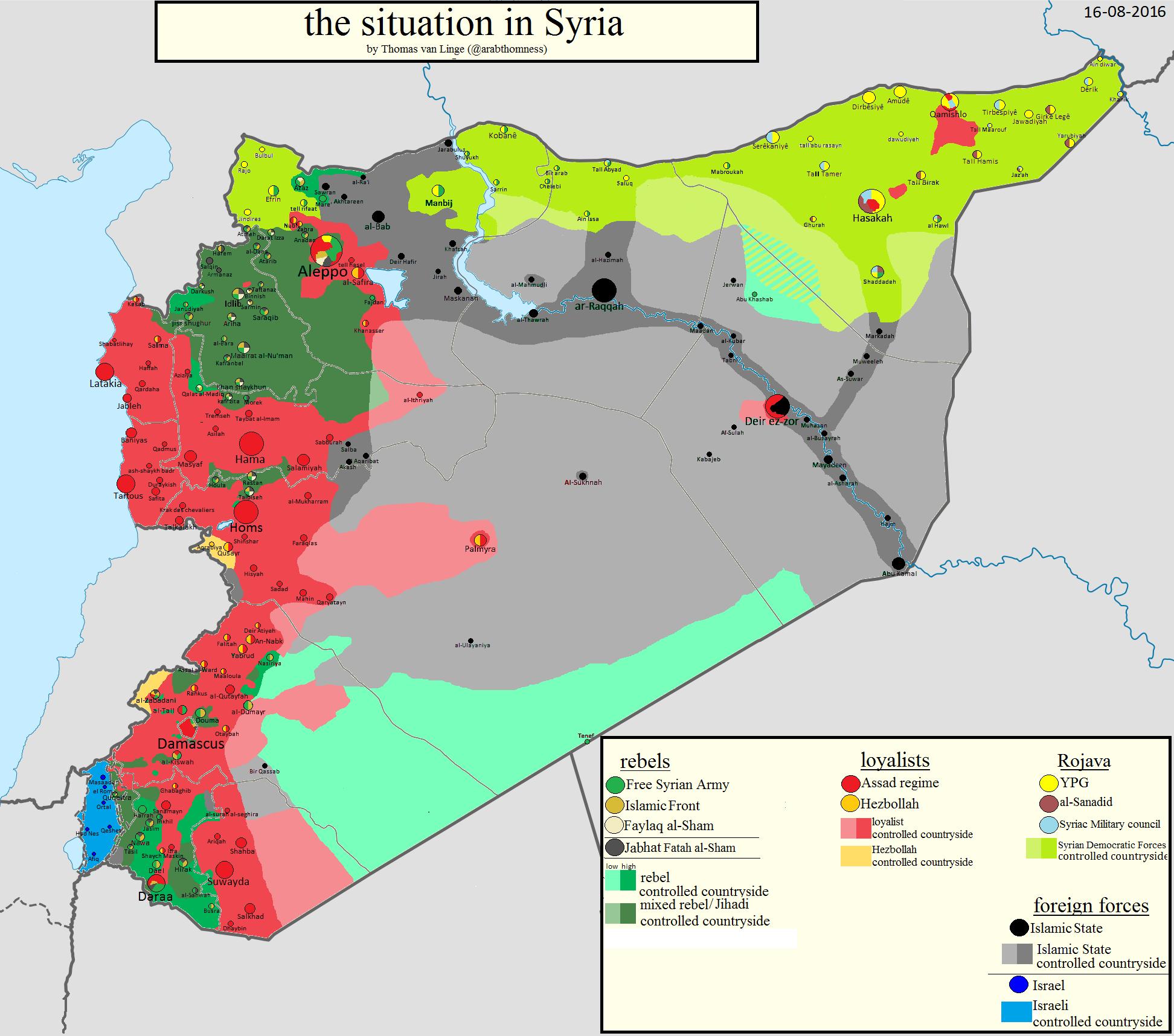 Il punto sulla guerra in Siria
