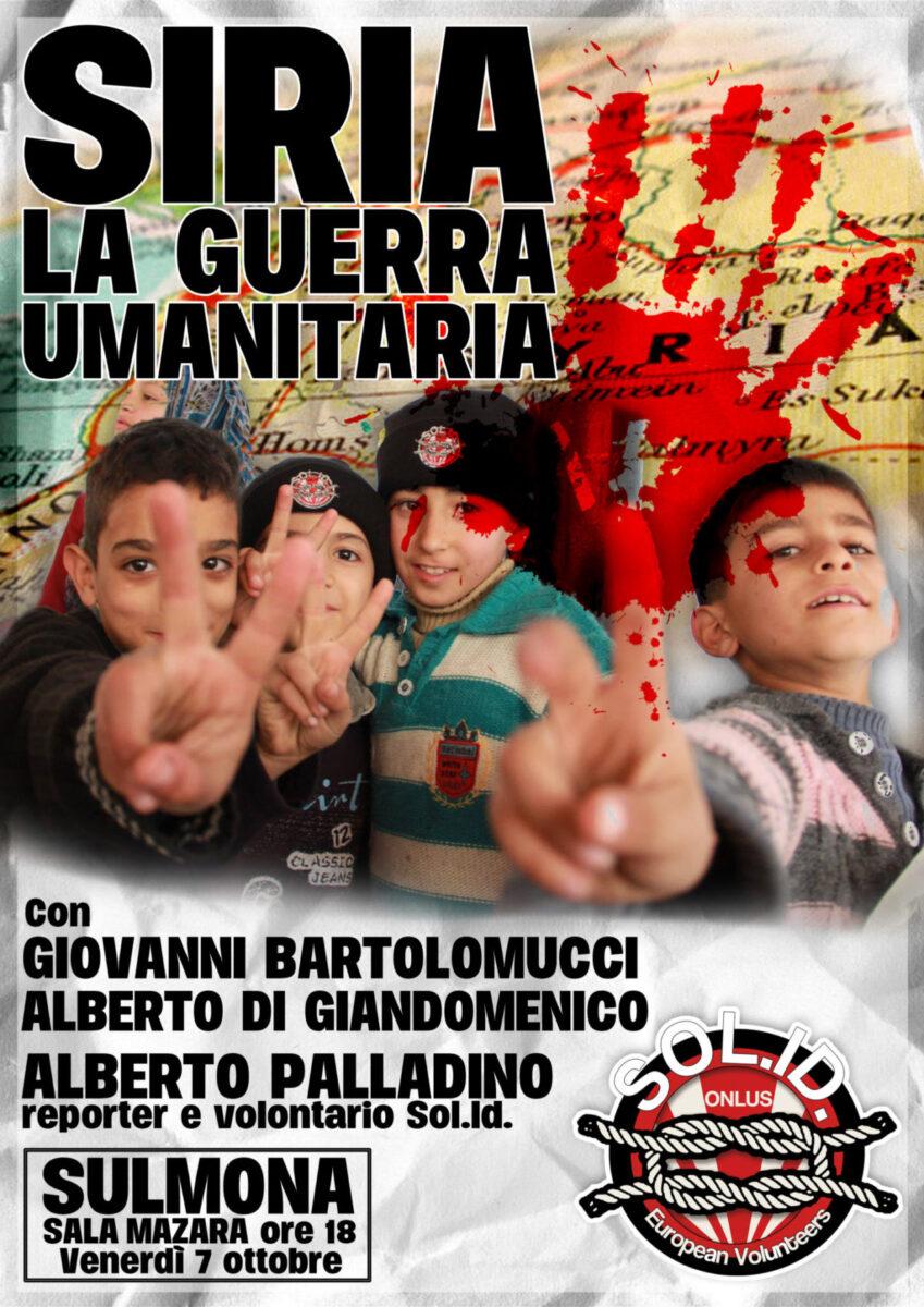 "Siria: ""la guerra umanitaria"" a Sulmona"