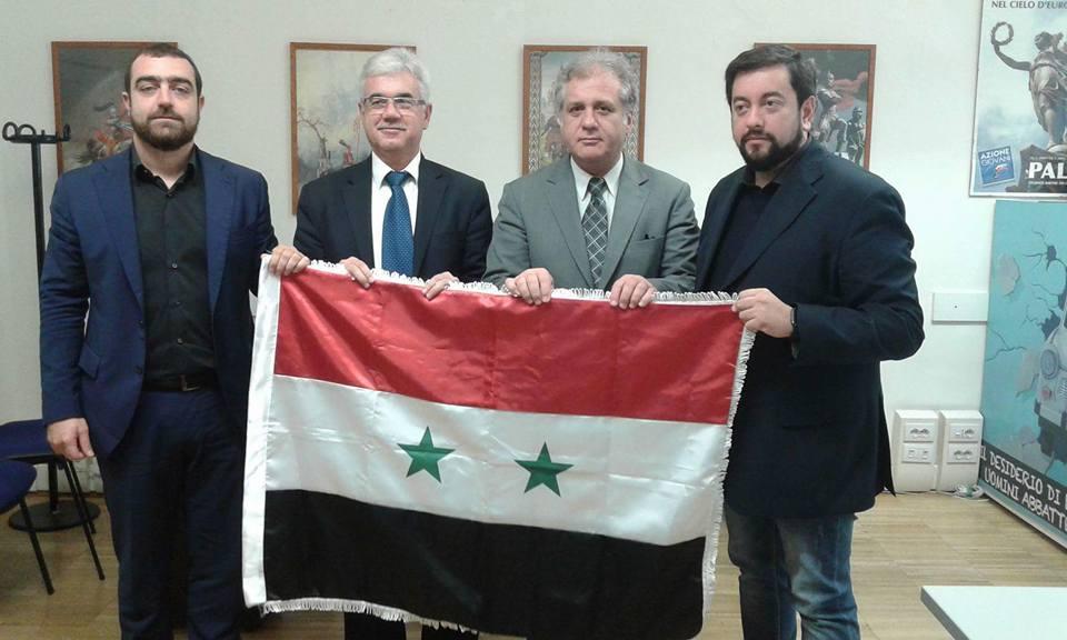 La delegazione siriana a Firenze con Sol.Id.